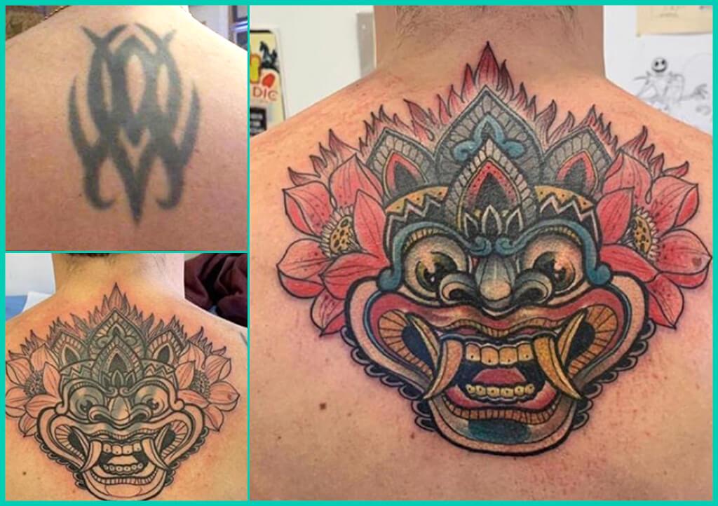tapado de tatuaje espalda